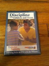DISCIPLINE WITH CHILDREN AND TEENS Proactive Parents Faith Home Jim Williams DVD