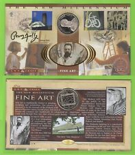 G.B. 2000 Art & Craft set on Coin (20 Euro) First Day Cover, signed George Melly