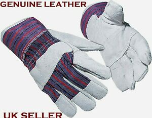 Genuine Real Leather Rigger Gloves Size Standard For Gardening DIY general use