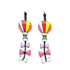 Boucles d'oreilles LOL Bijoux LOLILOTA Chat montgolfière noeud BFLOL081-rose