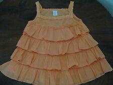 Gymboree Girl Cotton Ruffle Swing Top Crochet Shoulder Straps& Neckline Size 7 T