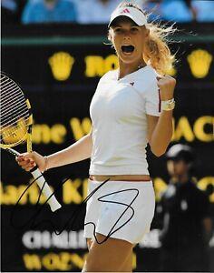 Autographed Caroline Wozniacki Tennis 8x10 Photo # 3 Original