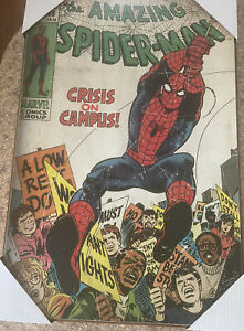 Amazing Spider-man wall hanging poster wood picture marvel comics Vintage