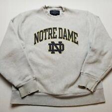 University Notre Dame Sweatshirt Mens S Champion Gray Heavy Pullover NCAA H7