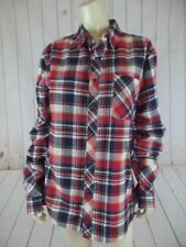 Artistix Dare to Be Shirt L Plaid Multicolor Cotton Poly Rayon Snap Front New