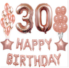 Rose Gold Foil Balloon Set Helium Confetti Birthday Wedding Party Love Decor