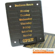 Shop Hours of Business Sign Opening Times Open & Closed Display Notice Sign D423