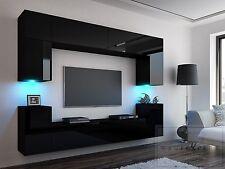 Wohnwand hängend modern schwarz  Wohnwände | eBay