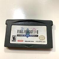 Final Fantasy I & II: Dawn of Souls (Nintendo Game Boy Advance, 2004) Authentic