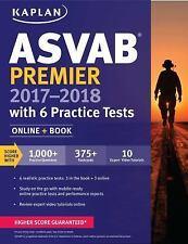 Kaplan Test Prep: ASVAB Premier 2017-2018 with 6 Practice Tests : Online + Book