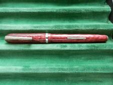 Arnold Pen Company Marbleized Red Fountain Pen Old Unused Stock