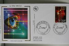 ENVELOPPE PREMIER JOUR SOIE 2001 LE XX° SIECLE SCIENCES