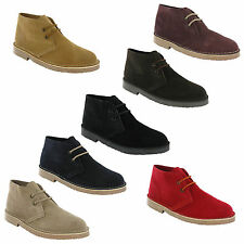 Roamers Desert Boots 2 Eye Mens Boys Real Suede Leather M467 Round Toe UK 3-12