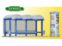 BNIB OO HO GAUGE KIBRI 38142 STATION WAITING SHELTER / BUS SHELTER - KIT