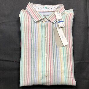 Men's Tommy Bahama L/S Shirt Size XL Jaipur Striped New Multi-Color $135