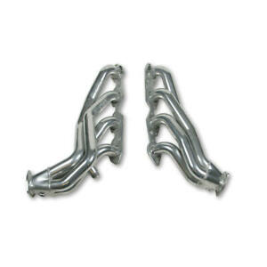 "Hooker Exhaust Header 2021-1HKR; 1.625"" 2.500"" Shorty Silver Ceramic Mild Steel"