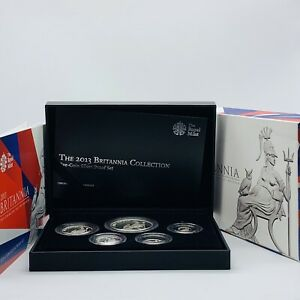 2013 Royal Mint Changing Face Of Britain Five-Coin Britannia Silver Proof Set