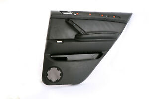 BMW X5 Série E53 Cuir Noir Dakota Arrière Droit O/S PORTE Carte Bordure Panneau