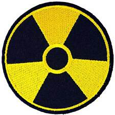 Nuclear Radiation Warning Embroidered Iron on Patch