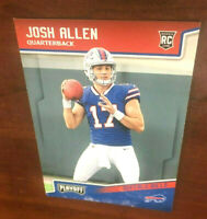 "2018 Panini Playoff Josh Allen Buffalo Bills QB # 205 Wyoming Rookie RC  ""WOW"""