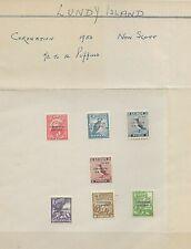 7 Mint Lundy Island 1953 Coronation Stamps