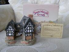 David Winter Cottage - 1981 Tudor Manor House - Box & COA - Retired  and Rare