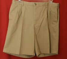 LANDS END Khaki Traditional Fit Stretch Band Waist Men's Shorts 37 x 8.5