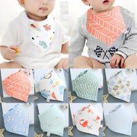 Boy Girls Newborn Baby Saliva Towel Feed Triangle Cotton Bibs Bandana Scarf Cute