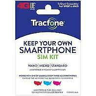 Sim Card 3-1 Tracfone At&T with 4.5Gb 4G/5G Unlimited air time