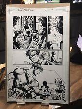 """OA """"BATMAN & ROBIN ETERNAL"""" / Paul Pelletier / Issue 19 / Pg. 16 /Inks / 11""""x17"""""""