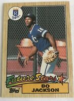 1987 Topps Bo Jackson Kansas City Royals Future Stars Baseball ROOKIE CARD  NM