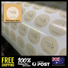 Custom Square Round / Circle Logo Business Birthday Baby Shower Label Stickers