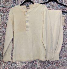 Antique Vintage Men's Wool Long Johns Underwear Workwear