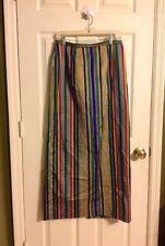 Silk Skirt Matching Wrap Custom Handmade Silk Multicolor Striped One Of A Kind