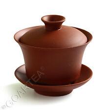90ml Red Chinese YiXing ZiSha rare Pottery clay GaiWan Gongfu Tea Cup & Saucer