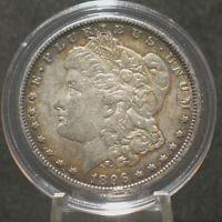 1896-O U.S.Morgan Silver Dollar $1 AU Details  90% Silver Tougher Date Toned