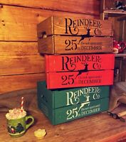 Christmas Box - Rustic & Vintage Wooden Christmas Crate