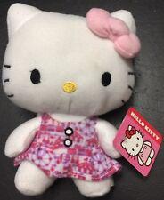 """Hello Kitty Pink Dress Plush 7"""" Fiesta Stuffed Toy"""