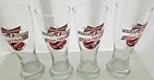 4 Budweiser Taste 4 More Kevin Harvick Beer Clear Glasses Racing Nascar NEW