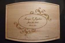 Personalized Maple Cutting Board For Weddings Christmas Anniversay Gifts