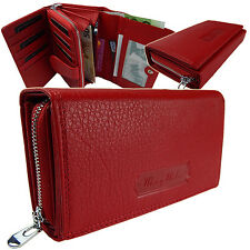Elegante Damen Portemonnaie Geldbörse Beutel Portmonee Leder 5341  Rot