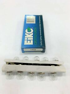 NEW 1 package of 10 individual Eiko 1445 Automotive Light Bulbs