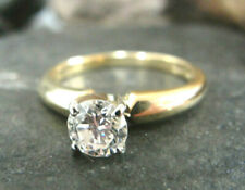 .50ct Round Diamond Solitaire Engagement Ring 18k Yellow Gold I Si-1 ~Size 5
