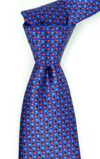 Mint Ermenegildo Zegna Satin Purple w Red Paisley Print Silk Neck Tie ITALY 3.5W
