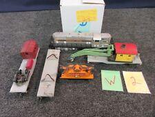5 AMERICAN FLYER MODEL TRAIN S SCALE HAND FLAT TRUCK CRANE CABOOSE LOCOMOTIVE