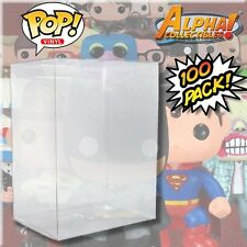 "100 PREMIUM 4"" FUNKO POP VINYL BOX PROTECTOR PROTECTIVE CASES COVER CRYSTAL CLR"