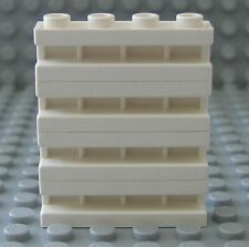 Lego WHITE BRICK Modified 1x4 with Groove - Door Rail Lot/4
