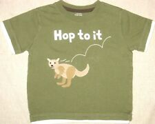 Gymboree Hop To It Boys T-Shirt Green Graphic Tee Kangaroo Size 18-24 Months