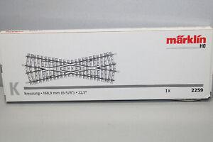 Märklin 2259 Crossing 22,5° K Track Gauge H0 Boxed