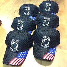 WHOLESALE LOT 6X POW MIA Not Forgotten Air Mesh  Baseball Caps HAT 631-6 -w